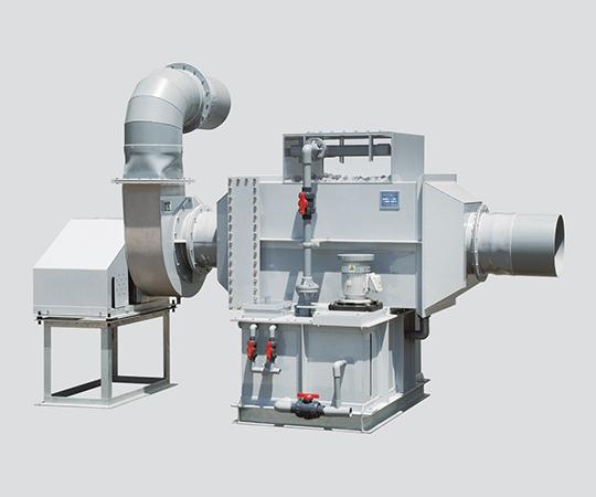 湿式スクラバー 屋外用・引っ張りタイプ・PVC製 40m3/min 2600×1350×1700