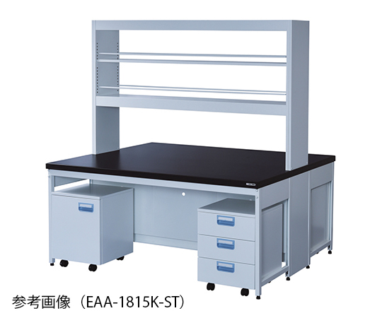 Central Laboratory Bench Steel Type, Flat, Reagent Shelf, with Wagon 1500 x 1200 x 800/1900 and others