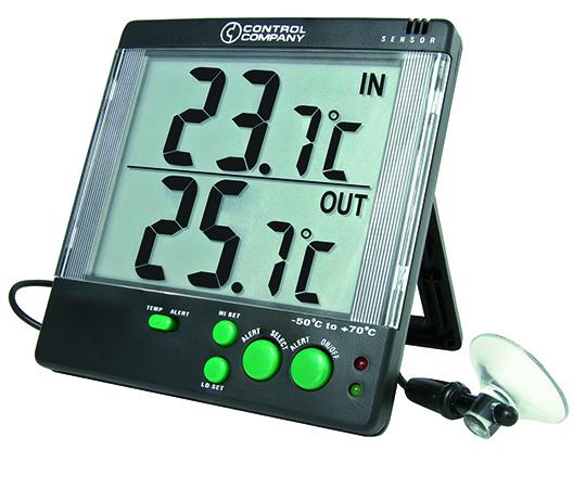 アラーム式大画面温度計 (TRACEABLE) -50~+70℃