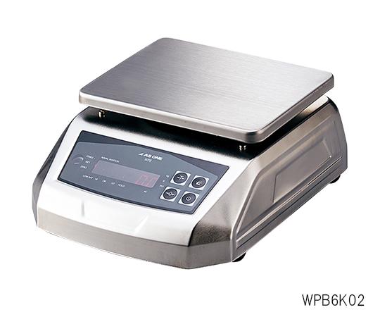 防塵防水電子天秤(IP68規格準拠)6000g WPB6K02