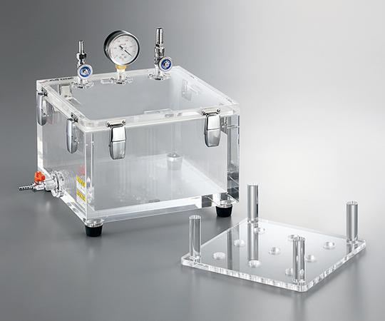 リークテスト用真空デシケーター 300×300×220