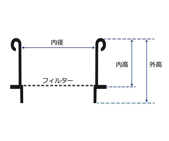 高精度電鋳ふるい (ニッケルフィルター) (JIS) 開口寸法 28μm ピッチ 45μm S28H30(JIS)