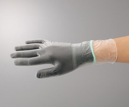 アズピュアインナー手袋ブラック オーバーロック・ポリエステル製 LL 10双入