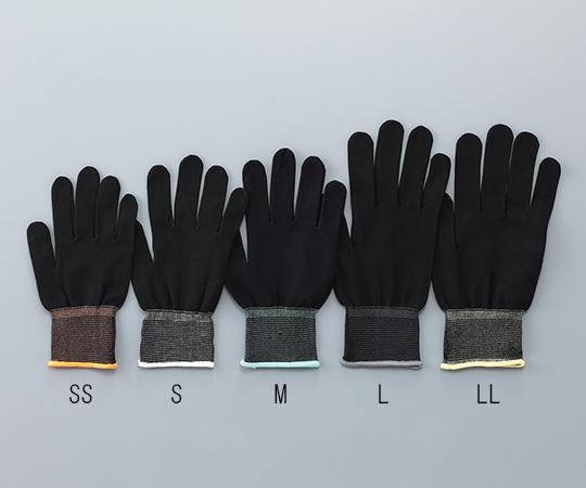 アズピュアインナー手袋ブラック オーバーロック・ポリエステル製 M 10双入