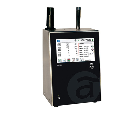 [取扱停止]高機能小型パーティクルカウンター 温湿度センサー無 P7-301