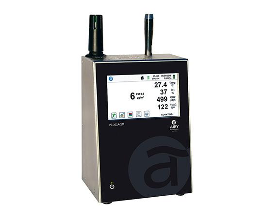 [取扱停止]高機能小型パーティクルカウンター 温湿度センサー付 P7-301AQM