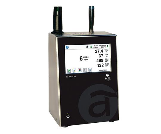 [取扱停止]高機能小型パーティクルカウンター 温湿度センサー付 P7-302AQM