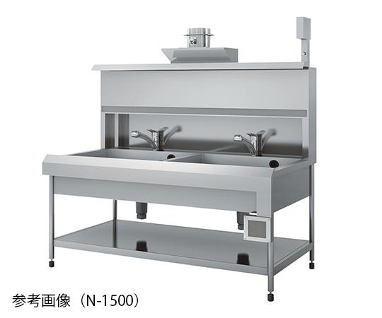 E型エアーカーテン流し台 排気風量9m3/min 1500×750×800/1792mm N-1500