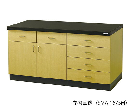 サイド実験台 (木目調タイプ) 1500×750×800 mm SMA-1575M