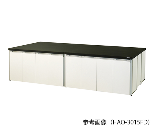 中央実験台 (フレ-ムタイプ・折れ扉付き) 1800×1500×800 mm HAO-1815FD