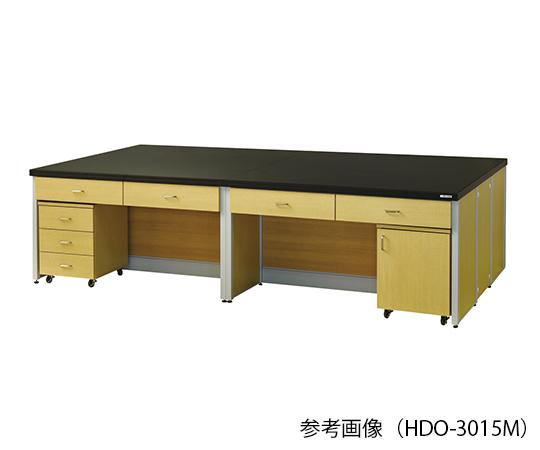 中央実験台 (木目調タイプ) 3600×1500×800 mm HDO-3615M