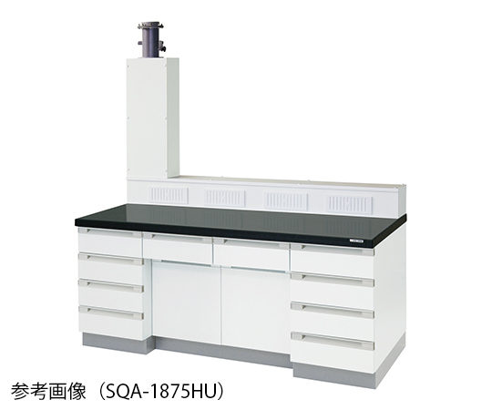 サイド実験台 (木製タイプ・排気ユニット付き) 3600×900×800/1770 mm SQA-3690HU
