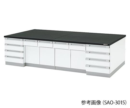 中央実験台 木製タイプ (2400×1500×800mm) SAO-2415