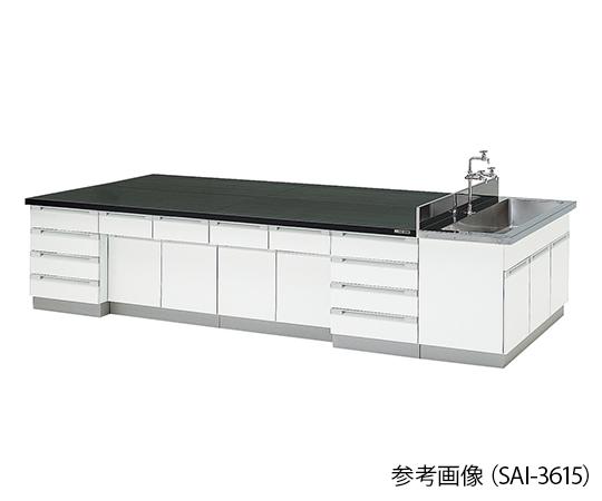 中央実験台 木製タイプ (3000×1200×800mm) SAI-3012