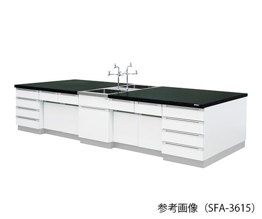 中央実験台 (木製タイプ) 3600×1500×800 mm SFA-3615