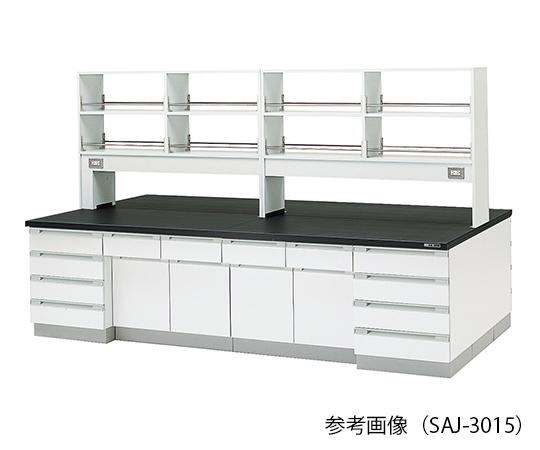 中央実験台 (木製タイプ) 3600×1500×800/1800 mm SAJ-3615