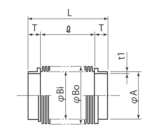 成型ベローズ (端管付) PF100