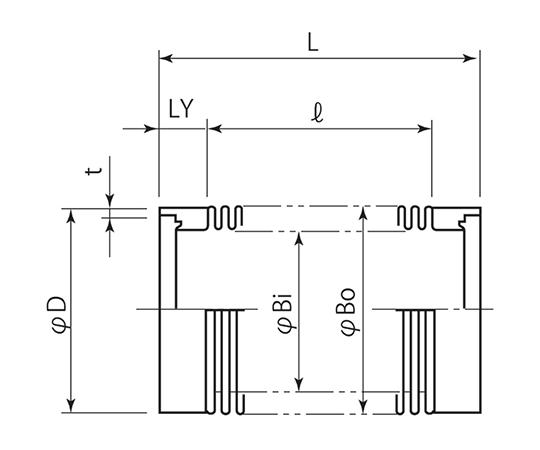 成型ベローズ (コンフラットおよび端管接続) IC18A