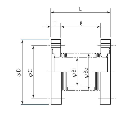 成型ベローズ (コンフラットフランジ) CF253
