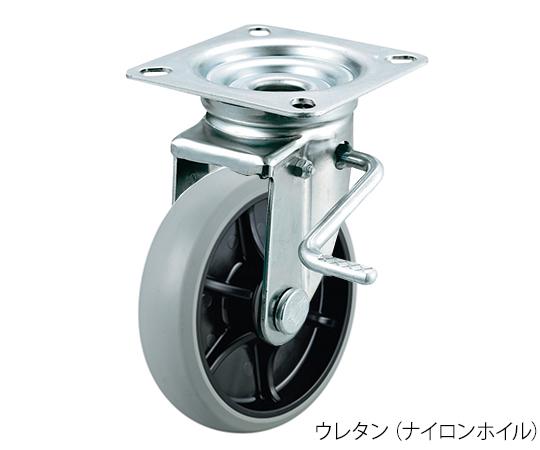 ストッパー付自在キャスター(プレート型・重量物用) GUJB-150(R)