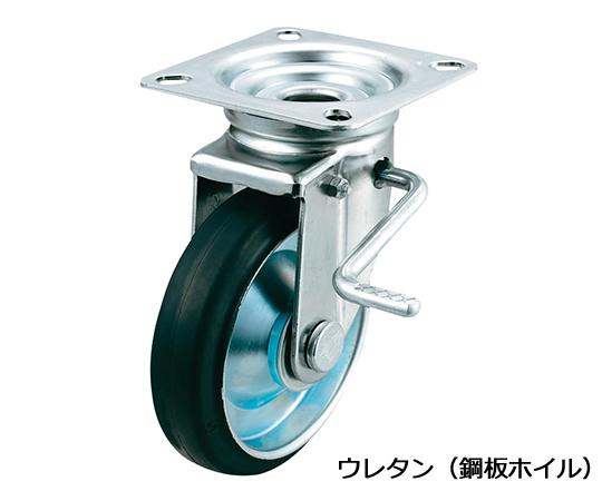 ストッパー付自在キャスター(プレート型・重量物用) UWJB-200(R)