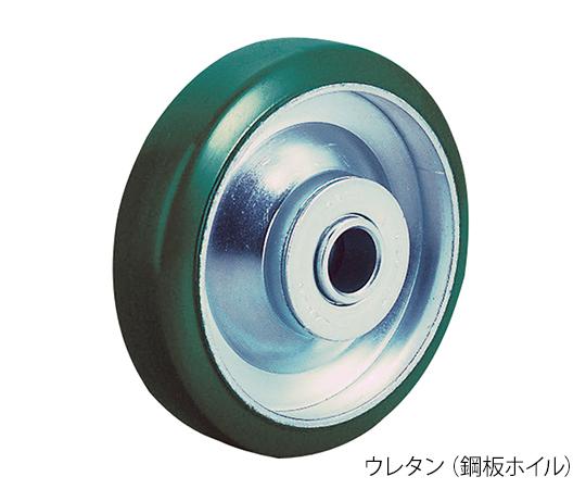 ストッパー付固定キャスター(プレート型・重量物用) UWKB-200(R)