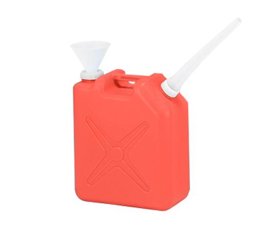廃液回収容器角型 赤 20L ロート付
