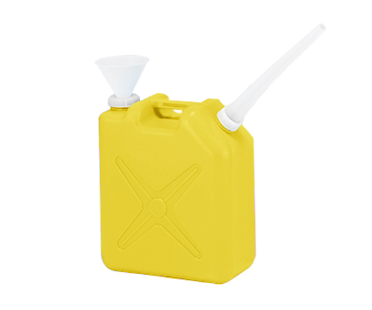 廃液回収容器角型 黄 20L ロート付