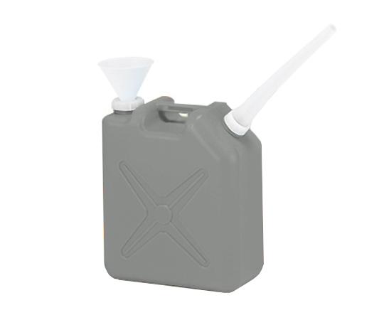 廃液回収容器角型 灰 20L ロート付