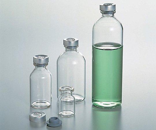 バイアル瓶(ゴム栓アルミキャップ付き)