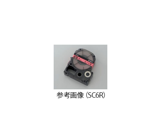 テプラ専用 テープカートリッジ レッド SC12R