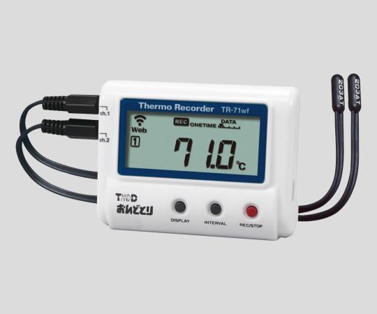 おんどとり 温度データロガー(無線LAN 温度2ch測定) 試験成績書付き TR-71wf