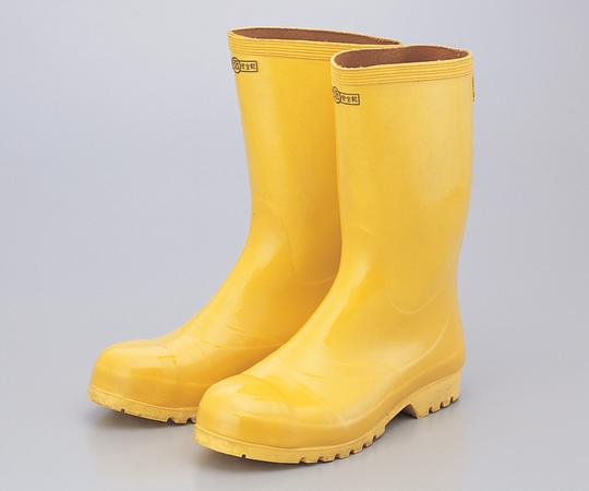 安全ゴム長靴 25cm 黄色