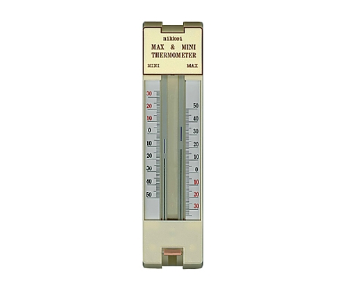 [取扱停止]ワンタッチ最高最低温度計