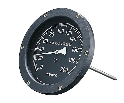 バイメタル式アスファルト用温度計大型 2250-10