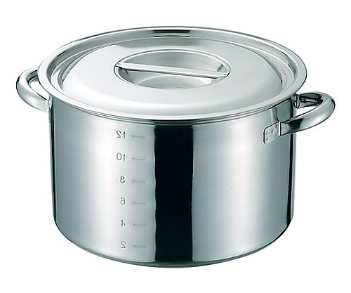 SUS316 電磁対応半寸胴鍋