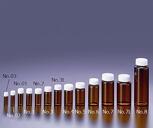 TSスクリュー管瓶 褐