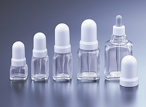 スポイド瓶 白 角型