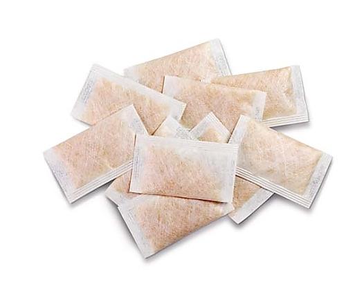 乾燥剤 (分包タイプ), 3 g 指示薬付きシリカゲル(オレンジゲル), 分包サイズ:4×7cm 1.03803.0001 1ST