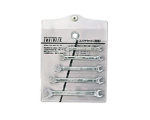[取扱停止]ミニスパナセット 3.2-9mm 5本組 TS-02