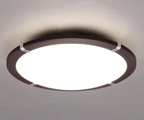 [取扱停止]LEDシーリングライト 8畳調光木枠 3800lm CL8D-WF1-M ダークブラウン 244261/CL8D-WF1-M