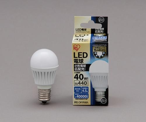 [取扱停止]LED電球 広配光 440lm 昼白色 リニューアル LDA4N-G-E17-4T1LED 575682/LDA4N-G-E17-4T1