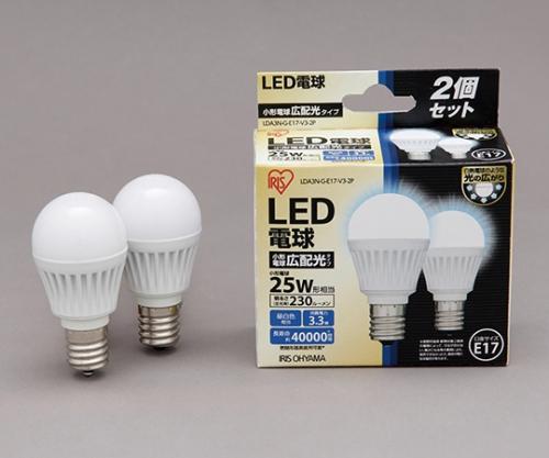 [取扱停止]LED電球 E17広配光 230lm 2個セット 昼白色 LDA3N-G-E17-V3-2P 566922/LDA3N-G-E17-V3-2P