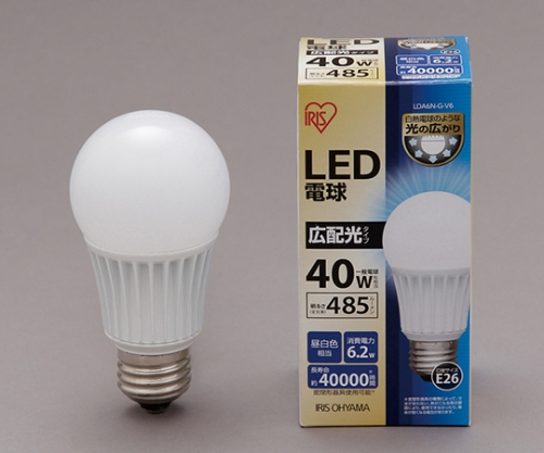[取扱停止]◎LED電球 広配光 昼白色 485lm LDA6N-G-V6 561096/LDA6N-G-V6