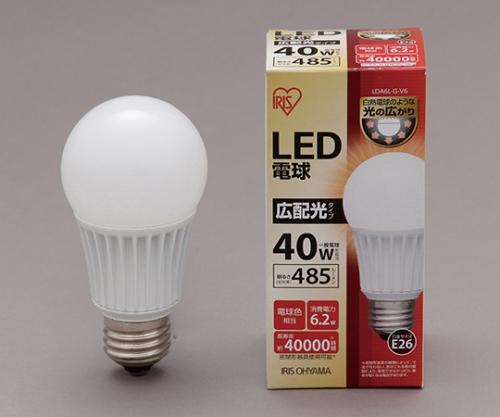 [取扱停止]◎LED電球 広配光 電球色 485lm LDA6L-G-V6 561097/LDA6L-G-V6