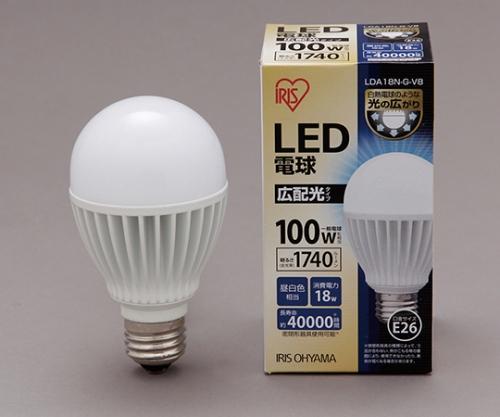 [取扱停止]LED電球 広配光 昼白色 1740lm LDA18N-G-V8 566715/LDA18N-G-V8