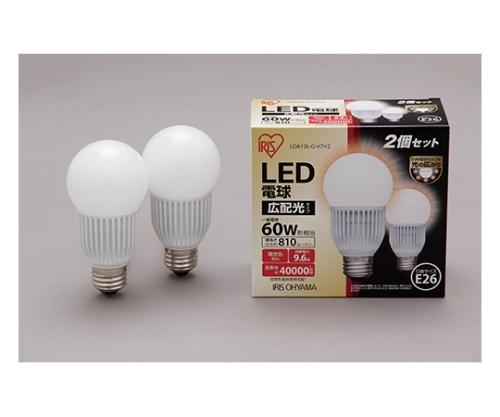 [取扱停止]LED電球2個セット 広配光 電球色 810lm LDA10L-G-V7×2 566668/LDA10L-G-V7×2