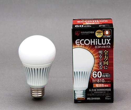 [取扱停止]LED電球 全配光 電球色 810lm  LDA11L-G/W-V2 566821/LDA11L-G/W-V2