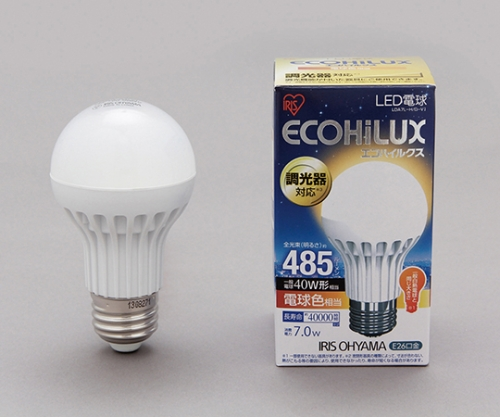[取扱停止]LED電球 調光 電球色 485lm LDA7L-H/D-V1 242785/LDA7L-H/D-V1
