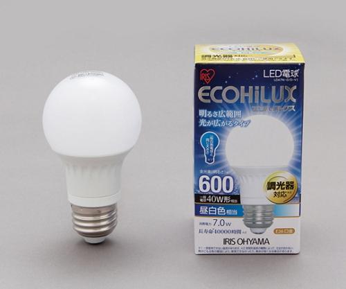 [取扱停止]LED電球 広配光/調光 昼白色 600lm LDA7N-G/D-V1 242788/LDA7N-G/D-V1